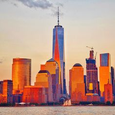 Manhattan New York City shining during todays golden hour by @gigi_nyc #newyorkcityfeelings #nyc #newyork