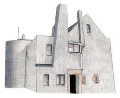 Antoni Gaudi and Charles Rennie Mackintosh : Modernisme and Art Nouveau Art Nouveau, Art Deco, Charles Rennie Mackintosh, Glasgow School Of Art, Antoni Gaudi, House On A Hill, Arts And Crafts Movement, School Architecture, William Morris