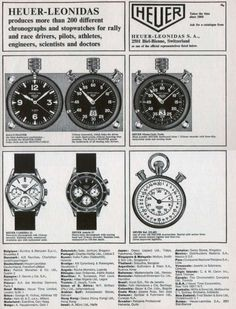 Heuer Carrera Chronographs: A Brief Overview Cool Watches, Watches For Men, Watch Ad, Square Watch, Vintage Watches, Carrera, Chronograph, Rally, Clocks