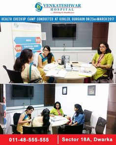 Venkateshwar Hospital Conducted #HEALTHCHECKUP Camp at #KOHLER, Gurgaon on 23rd March 2017.  www.venkateshwarhospitals.com  #VenkateshwarHospital #HealthCamp #HospitalInDwarka
