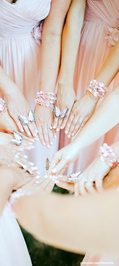 ● Bridesmaids...How pretty!  Waiting for the Spring weddings!