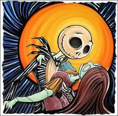 Jack and Sally dance in the moonlight