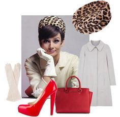 dressing like audrey hepburn Audrey Hepburn Mode, Red Leopard, Cold Weather Outfits, Beautiful Lips, My Muse, Style Icons, Celebrity Style, Fashion Looks, My Style