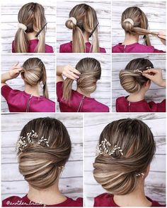 Quick and easy updo tutorial Quick and easy updo tutorial # quick . Quick and easy updo tutorial Quick and easy updo tutorial # quick Medium Hair Styles, Short Hair Styles, Hair Styles Quick, Wedding Hairstyles Tutorial, Short Hair Updo Tutorial, Updos For Medium Length Hair Tutorial, Wedding Updo Tutorial, Chignon Tutorial, Simple Updo