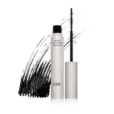 washes off with warm water! DHC Mascara Perfect Pro Double Protection - Black