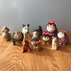 @museumshop_yagura - Instagram:「来年の干支となる戌(いぬ) リサ・ラーソンや楠一刀彫、仙台張子など日本の伝統工芸を含むイヌが10種類以上あります。 生まれた国や素材の違いで、それぞれが個性を持っています。 画像に間に合いませんでしたが、岡崎市のリサイクルガラスを使用した「ガラス工房…」