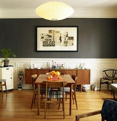 Love the paint color - similar to Behr's dark granite and my new favorite wall color :)