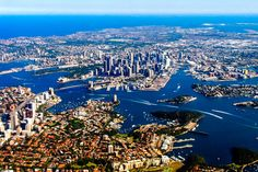 Flying into Sydney, Australia: Sydney Harbour Bridge, Sydney Opera House, and the suburbs. #travel #australia / / / / / Check out more travel photos and blog posts on my travel blog, frugalfrolicker.com