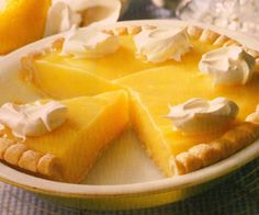 This super-simple pie from Naomi Judd is so bright and beautiful, it's a welcome addition to the typical buffet spread of cobblers, fruit salads, cookies and/or brownies. Lemon Desserts, Lemon Recipes, Tart Recipes, Just Desserts, Sweet Recipes, Delicious Desserts, Cooking Recipes, Yummy Food, The Best Lemon Pie Recipe