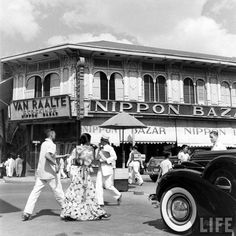 Nippon Bazar, Manila, Philippines, just before WWII late 1941 Pearl Harbor Attack, Poker Online, Buy Art Online, World War One, Nose Art, Photo Projects, Old City, Vintage Photographs, Art World