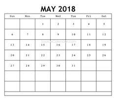 May 2018 Calendar, 2018 Calendar Template, Calendar Printable, Clip Art, Printables, Canada, Templates, Holidays, Words