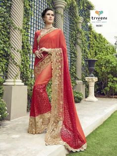 d9881ba8dc NEW INDIAN PAKISTANI BOLLYWOOD STYLE DESIGNER SAREE Barnd-Triveni KC 358  #KRISHACREATION #BOLLYWOODSTYLE