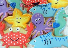 Flour Box Bakery — Sea Friends Videos! How to Decorate FIVE Sea Animal Cookies