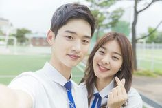 dae hwi and nam joo [School School2017 Kdrama, Kdrama Actors, Drama Film, Drama Movies, Korean Tv Series, Chines Drama, School 2013, Kim Sejeong, Weightlifting Fairy Kim Bok Joo