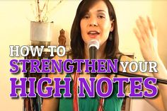 A simple but effective exercise to help you strengthen your high notes. This works for both belt and head voice notes.