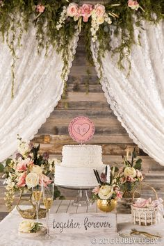 Dress Up Your Cake Table With Gold And Floral Accents For An Elegant,  Vintage Feel · Commercial PhotographyWedding ReceptionsCake TableHobby ...