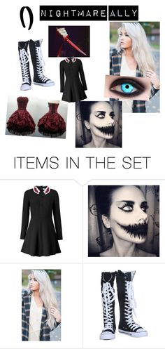 """Nightmare Ally Creepypasta"" by marcykxx ❤ liked on Polyvore featuring art"