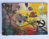 Small Underwater Mixed Media Painting