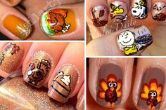 Fun Thanksgiving nail designs
