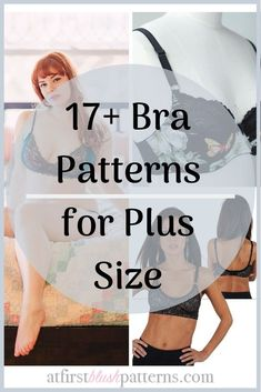 Bra Patterns for Plus Size Love sewing bras and bralettes? Looking for your next favorite bra p Bralette Pattern, Bra Pattern, Pattern Sewing, Pants Pattern, Sewing Bras, Sewing Lingerie, Underwear Pattern, Lingerie Patterns, Bh Hacks