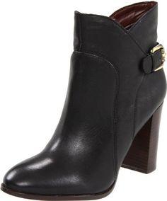 Sam Edelman Women's Loni Ankle Boot,Black Leather,9.5 M US Sam Edelman