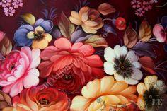 Zhostovo tray Precious flowers by SoapandZostovo on Etsy