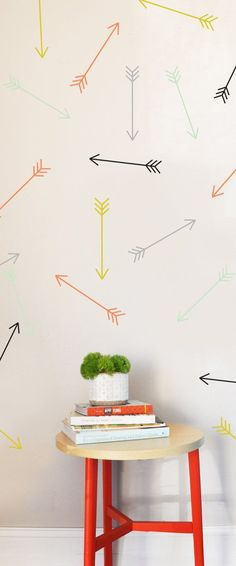 Dainty Arrows  Color Combos   Wall Decal by TheLovelyWall on Etsy, $23.00 for 30... - http://centophobe.com/dainty-arrows-color-combos-wall-decal-by-thelovelywall-on-etsy-23-00-for-30/