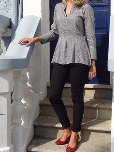 top à basque (6)manteau N°104 du magazine Burda Style d'avril 2014.