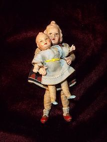 Two Early CACO Doll House Dwellers - Timeless Pieces Antiques #dollshopsunited