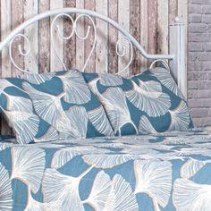 Denim Palm Leaves Quilt http://lavendersky.org/coverlets/denim-quilt.html