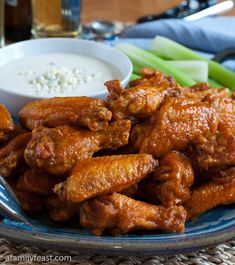Classic Buffalo Wings - Make restaurant-quality Buffalo Wings at home!  Perfect for game day parties!