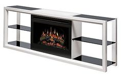 Dimplex Novara Modern Mantel Media Console with Electric Fireplace