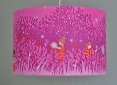 Lampenschirm++Glühwürmchen+pink+von+Atelier+Kleeblatt+auf+DaWanda.com