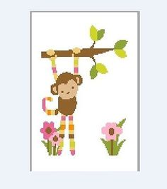 Crochet graph pattern Kids collection monkey