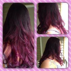 #hairbyjose #getfresh #freshhair #ombre #pomegranate #violet @afreshsalon