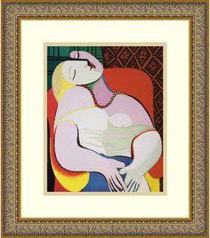 """0-009077>14x16"""" Pablo Picasso The Dream Framed Print"""