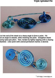 Triple Spiraled Wire Pin Jewlelry Making Project Page 5