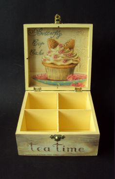 Cigar Box Crafts, Decoupage Box, Tea Box, Butterfly Art, Hobbies And Crafts, Chalk Paint, Color Inspiration, Hobbit, Decorative Boxes