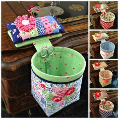 Pincushion with Thread Catcher Bag free Pattern
