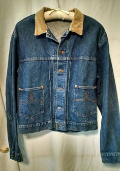 Polo Ralph Lauren Jean Jacket Corderoy Collar Women's Large #PoloRalphLauren #JeanJacket