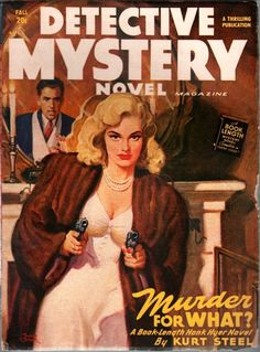 DETECTIVE MYSTERY | vintage harboiled pulp cover art