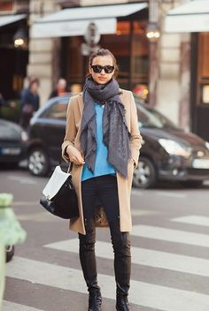 A key ingredient in the recipe for style, here in the City of Lights, Parisian women -- young, old, in between -- don't wear scarves... they flaunt them. A splash of panache, affecting walk, attitude; a confident flair; a statement to gawking tourists: I am French, and you are not!