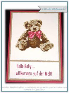 Stampin' Up! - Babykarte/Karte zur Geburt - Unentbärliche Grüße - www.Kreatives-made-in-Hamburg.com