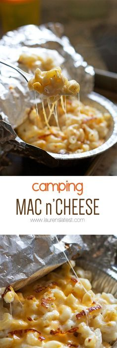 Mac n' Cheese Camping Mac n' Cheese.make it over a fire, on a grill or just in the oven! So cheesy and simple!Camping Mac n' Cheese.make it over a fire, on a grill or just in the oven! So cheesy and simple! Glamping, Camping Bedarf, Camping Dishes, Camping Hacks, Outdoor Camping, Backyard Camping, Camping Style, Campfire Desserts, Campfire Food