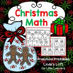 Reinforce and provide extra practice for number sense and measurement concepts in the early childhood classroom with Christmas Math Preschool Printables.  Visit my site for a complete preview!  $