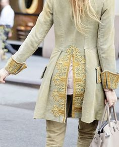 pirate coat - look what a little embellishing can do!
