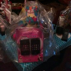 Big easter basket with walkie talkies and horse Colorful horse big basket for girls eggs candy and toys with walkie talkie real set Other