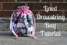 Lined Drawstring Bag by In Color Order