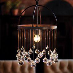 Sphere Glass Chandelier - Arhaus.  Love, love, love this!