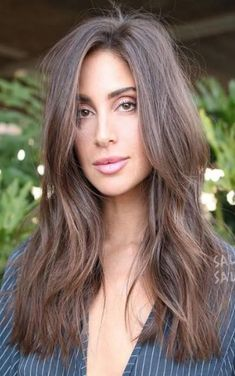 60 Super Chic Hairstyles for Long Faces to Break Up the Length Long Side-Parted Cut with Razored Layers Long Layered Haircuts, Haircuts For Long Hair, Cool Haircuts, Straight Hairstyles, Popular Haircuts, Hairstyles For Long Faces, Haircut For Long Face, Long Brunette Hairstyles, Side Part Hairstyles